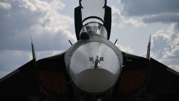 Le chasseur embarqué russe Su-47 au Salon MAKS 2019 - Sputnik France