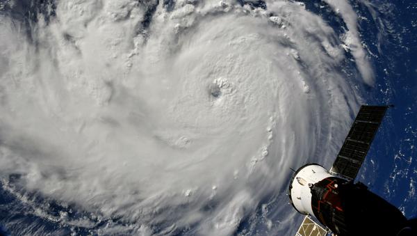 Снимок урагана Флоренс, сделанный из космоса - Sputnik France