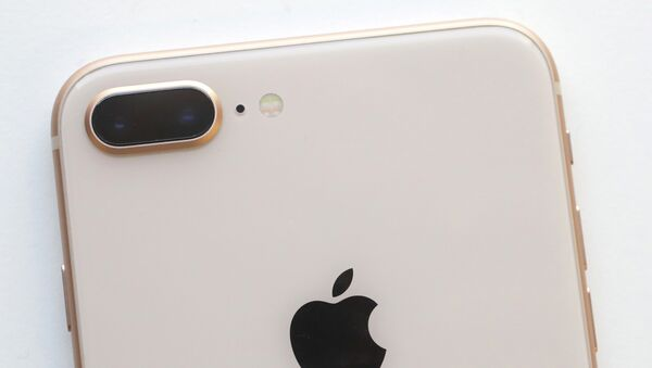 The camera, upper left, of an iPhone 8 Plus is displayed in New York - Sputnik France