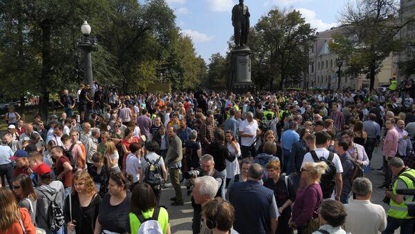 Action de protestation non autorisée à Moscou  - Sputnik France