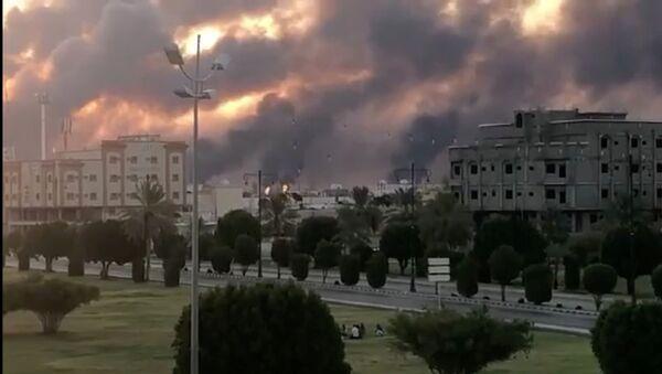 Incendie dans une usine Aramco à Abqaiq, en Arabie Saoudite, le 14 septembre 2019 - Sputnik France