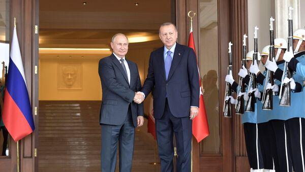 Vladimir Poutine et Recep Tayyip Erdogan  - Sputnik France