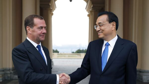 Dmitri Medvedev et Li Keqiang - Sputnik France