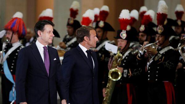 Emmanuel Macron et Giuseppe Conte - Sputnik France