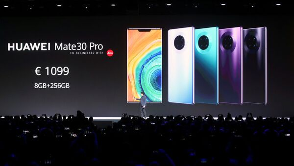 Richard Yu, CEO of Huawei's consumer business group, launches the Mate 30 smartphone range at the Convention Center in Munich, Germany September 19, 2019. - Sputnik France