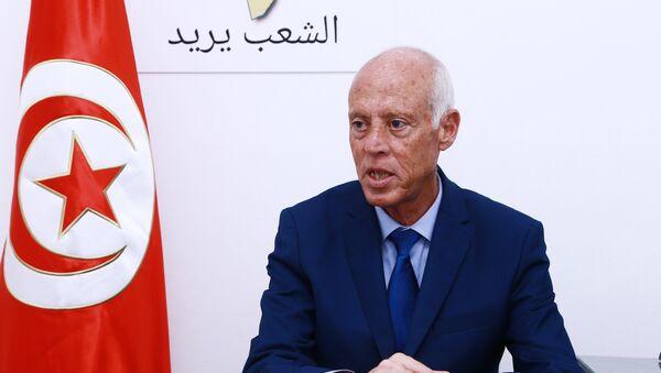 Le candidat indépendant à l'élection présidentielle tunisienne Kaïs Saïed  - Sputnik France