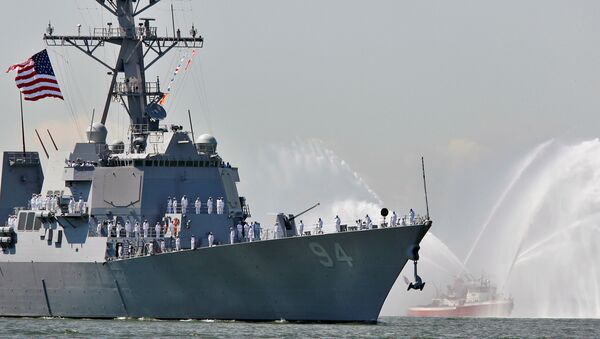 The USS Nitze, a Guided Missile Destroyer is pictured in New York Harbor, May 24, 2006 - Sputnik France