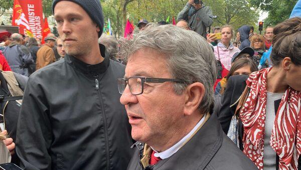 Jean-Luc Mélenchon lors d'une manifestation interprofessionnelle à Paris contre la réforme des retraites - Sputnik France