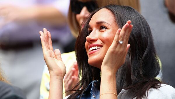 Meghan, Duchess of Sussex, attends the Women's Singles final match between Serena Williams of the United States and Bianca Andreescu of Canada on day thirteen of the 2019 US Open at the USTA Billie Jean King National Tennis Center on September 07, 2019 in the Queens borough of New York City.   - Sputnik France