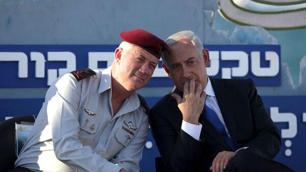 Benyamin Netanyahou et Benny Gantz - Sputnik France