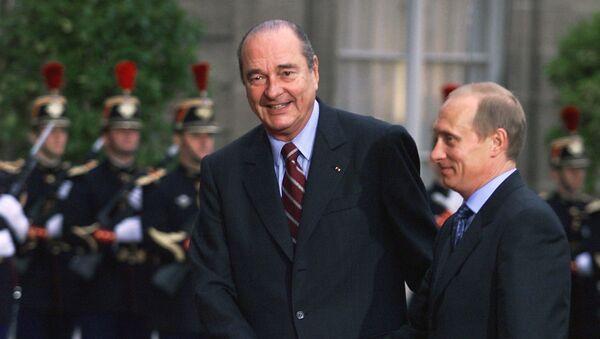 Jacques Chirac et Vladimir Poutine - Sputnik France