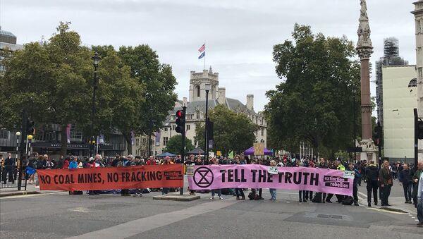 Actions d'Extinction Rebellion à Londres, le 7 octobre - Sputnik France