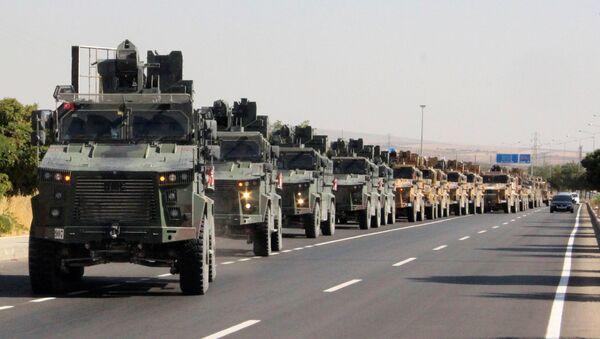 Des militaires turcs près de la frontière turco-syrienne, le 9 octobre 2019 - Sputnik France