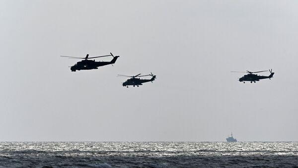Un Mi-24 et des Mi-35 - Sputnik France