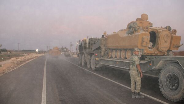Troupes turques à la frontière syriennes - Sputnik France