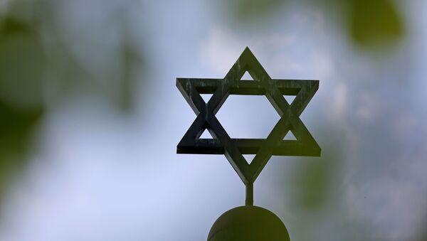 Étoile de David sur la synagogue de la communauté juive à Halle,  en Allemagne  - Sputnik France