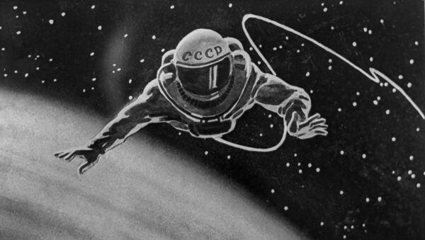 Le cosmonaute soviétique Alexeï Leonov dans l'espace (illustration) - Sputnik France