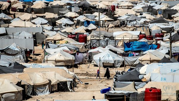 Le camp d'Al-Hol, dans le nord-est de la Syrie - Sputnik France