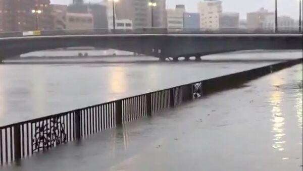 Le typhon Hagibis frappe le Japon - Sputnik France