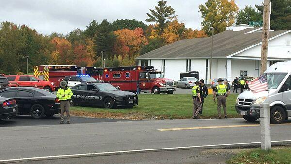 Une église de la ville américain de Palham, au New Hampshire, où un individu a ouvert le feu samedi 12 octobre - Sputnik France