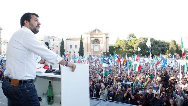 Rassemblement des partisans de la Ligue de Matteo Salvini à Rome - Sputnik France