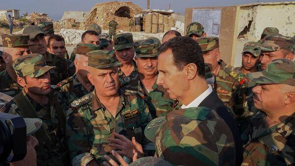 Bachar al-Assad à Idlib - Sputnik France