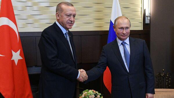Poutine et Erdogan à Sotchi - Sputnik France
