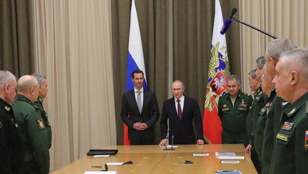 Une rencontre de Vladimir Poutine et Bachar el-Assad (archive photo) - Sputnik France