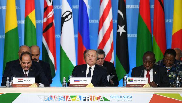 Poutine et leaders africains au Forum Russie-Afrique - Sputnik France