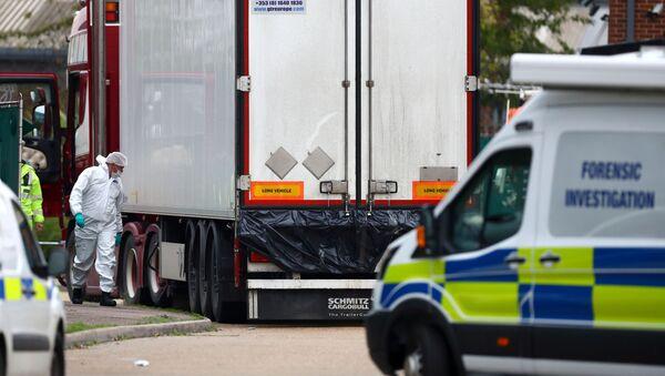 camion, dans lequel 39 corps ont été découverts le 23 octobre en Grande-Bretagne, - Sputnik France