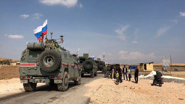 des véhicules blindés russes à Kobané, image d'illustration - Sputnik France