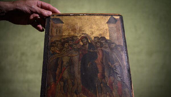 Le Christ moqué, chef d'œuvre très rare du peintre italien Cimabue (1272-1302) - Sputnik France