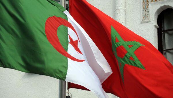 Les drapeaux algérien et marocain - Sputnik France
