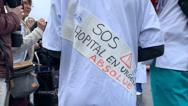 Mobilisation des hospitaliers pour alerter sur la situation de l'hôpital public, 29 octobre 2019 - Sputnik France