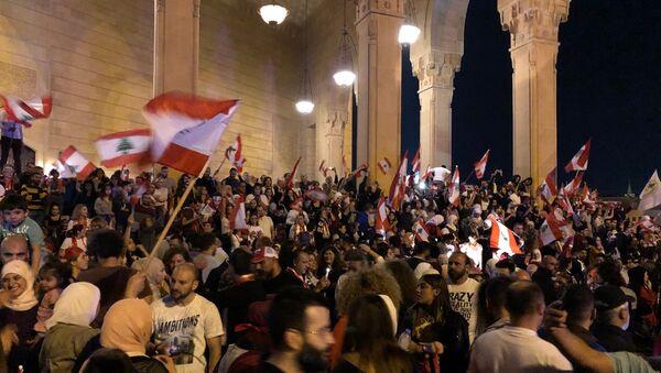 Participants à une manifestation antigouvernementale à Beyrouth - Sputnik France