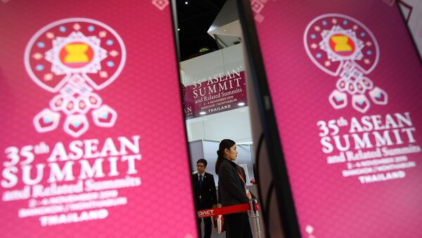Подготовка к 35-му саммиту Ассоциации государств Юго-Восточной Азии (АСЕАН) в Бангкоке - Sputnik France