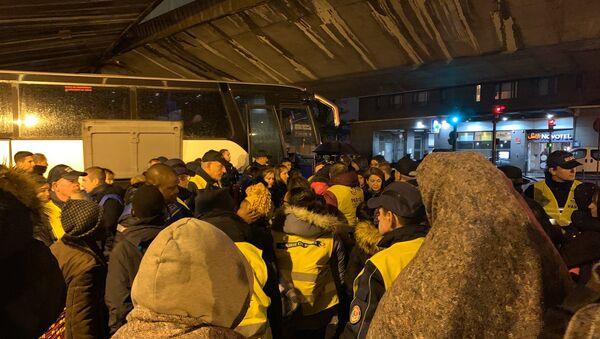 l'évacuation du camp de migrants porte de la Chapelle, 7 novembre 2019 - Sputnik France