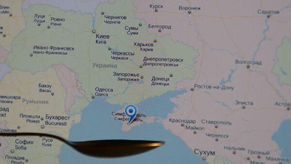 La Biélorussie, l'Ukraine et la Russie sur une carte en ligne (image d'illustration) - Sputnik France