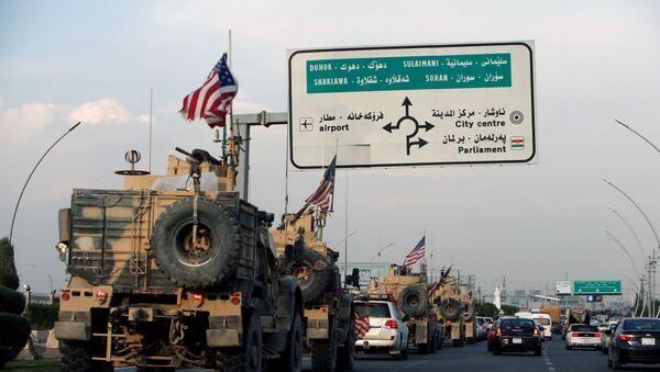 Un convoi de véhicules américains en Irak - Sputnik France