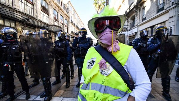 Acte 52 des Gilets jaunes à Montpellier - Sputnik France