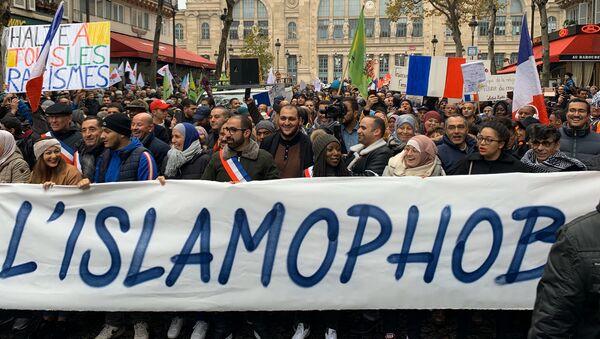 Une manifestation contre l'islamophobie démarre à Paris - Sputnik France