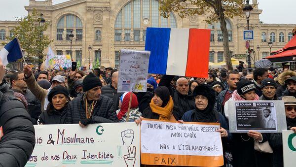 Marche antiislamophobe à Paris - Sputnik France