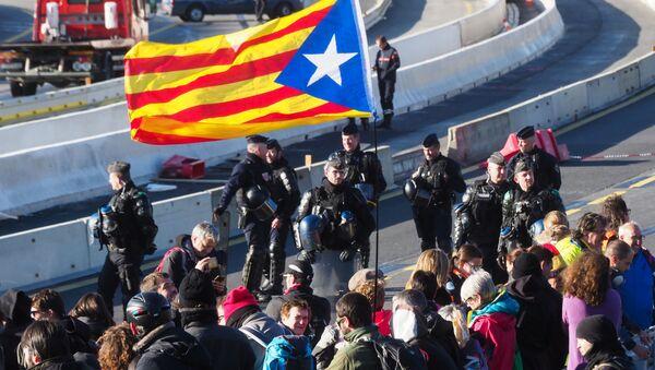 Une manifestation à la frontière entre la France et l'Espagne - Sputnik France