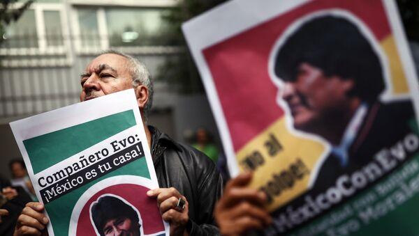 Les partisans du Président bolivien à Mexico - Sputnik France