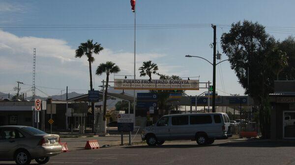 Un poste de contrôle dans l'Arizona, à la frontière entre les États-Unis et le Mexique - Sputnik France