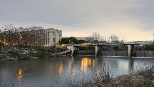 Passerelle du Moulin de l'Evêque au dessus du Lez. Montpellier, Hérault, France - Sputnik France