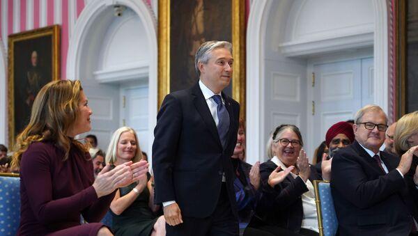 François-Philippe Champagne au cours de sa cérémonie d'investiture en tant que ministre canadien des Affaires étrangères le 20 novembre 2019 à Ottawa. - Sputnik France