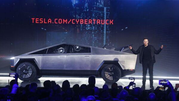 Elon Musk présente le pick-up Cybertruck de Tesla  - Sputnik France