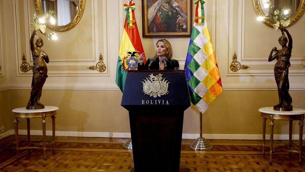 Jeanine Áñez, presidenta de facto de Bolivia - Sputnik France