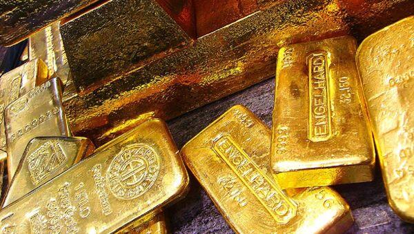 Lingots d'or de la Banque nationale de Pologne (archive photo) - Sputnik France